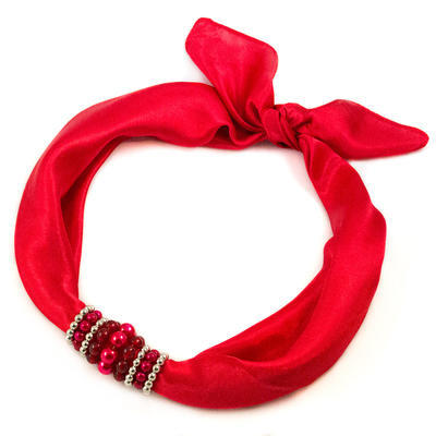 Jewelry scarf Stewardess - red - 1