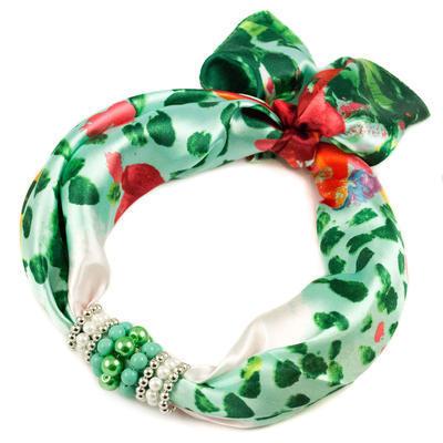 Jewelry scarf Stewardess - green - 1