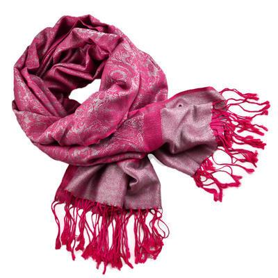 Classic cashmere scarf - fuchsia pink - 1