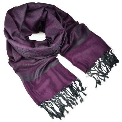 Classic cashmere scarf - violet