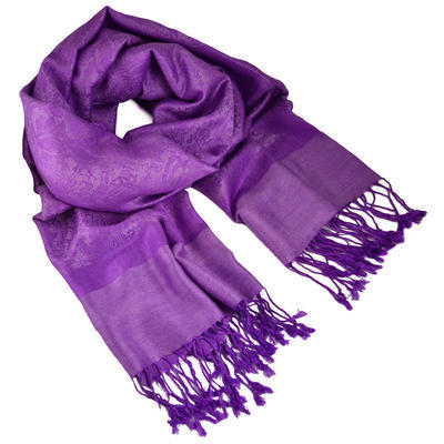 Classic cashmere scarf - bright violet