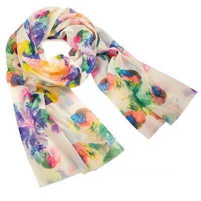 Classic women's scarf - white - 1