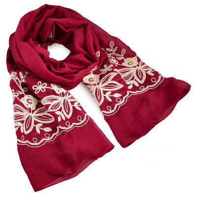 Classic women's scarf - red - 1
