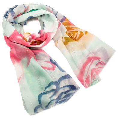 Classic women's scarf - black and white - 1