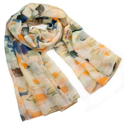 Classic women's scarf - green - 1