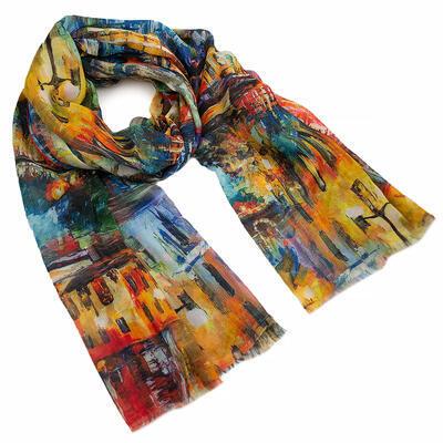 Classic women's scarf - multicolor - 1