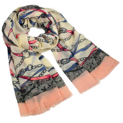 Classic women's scarf - pink - 1