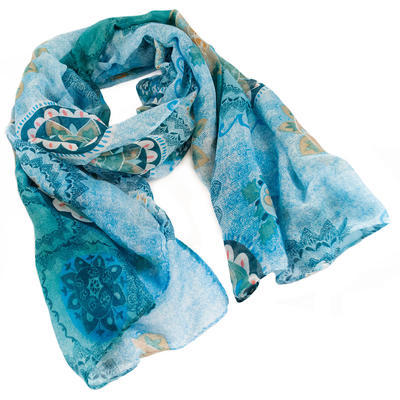 Classic women's scarf - blue - 1