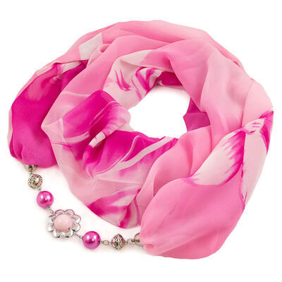Jewelry scarf Extravagant - pink - 1
