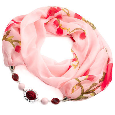 Scarf Extravagant - pind and red - 1