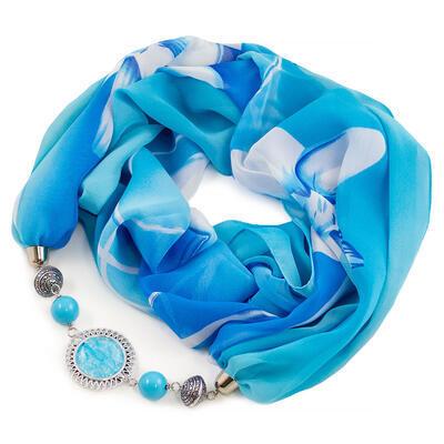 Jewelry scarf Extravagant - light blue - 1