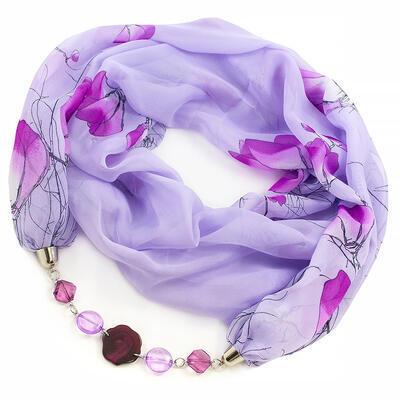 Jewelry scarf Extravagant - violet - 1