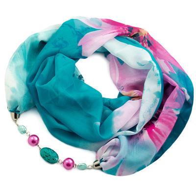 Scarf Extravagant - turquoise - 1
