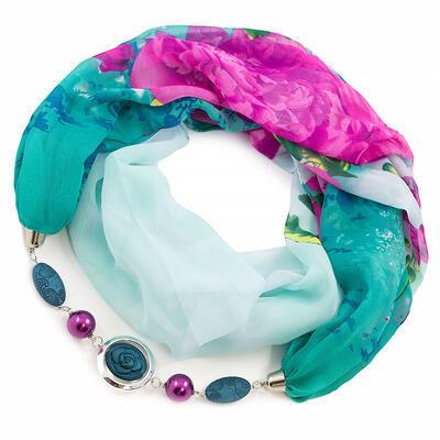 Jewelry scarf Extravagant - green - 1