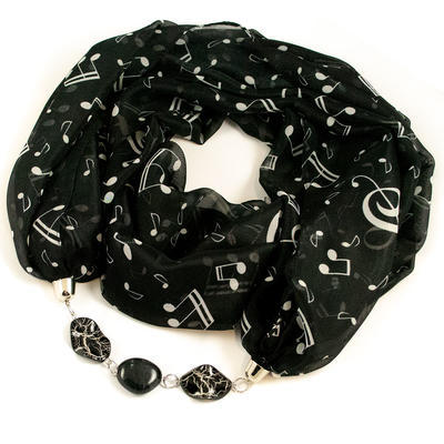 Scarf Extravagant - black and white - 1