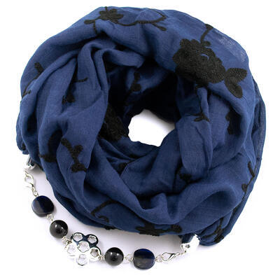 Cotton jewelry scarf - grey