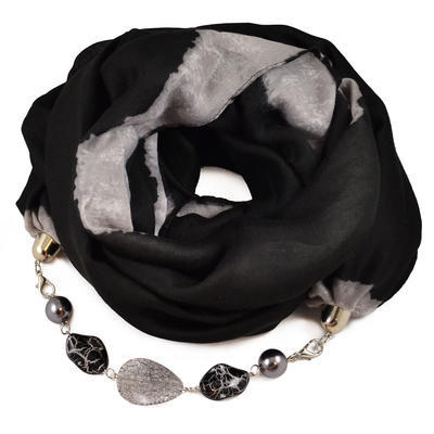 Cotton jewelry scarf - black