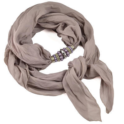 Jewelry scarf Bijoux Me - solid grey