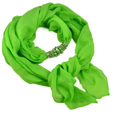 Jewelry scarf Bijoux Me - solid green