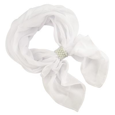 Jewelry scarf Melody - white - 1