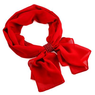 Jewelry scarf Melody - red - 1