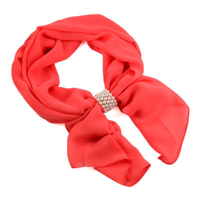 Jewelry scarf Melody - coral - 1