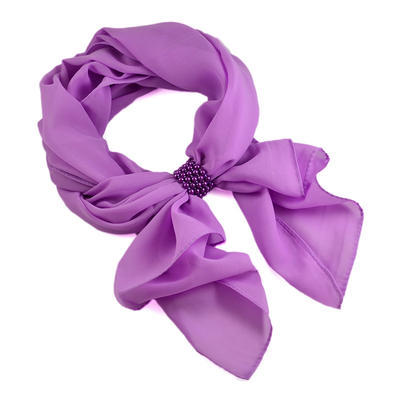 Jewelry scarf Melody - light violet - 1