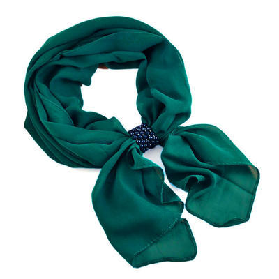 Jewelry scarf Melody - dark green - 1