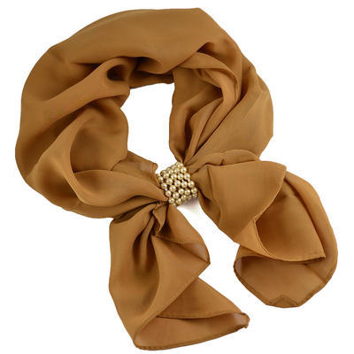 Jewelry scarf Melody - brown - 1