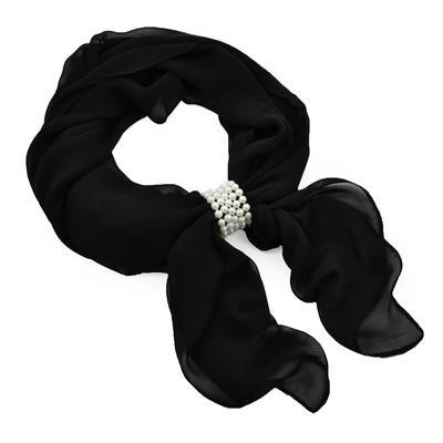 Jewelry scarf Melody - black - 1