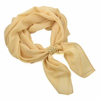 Jewelry scarf Melody - beige - 1