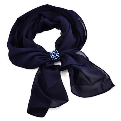 Jewelry scarf Melody - dark blue - 1