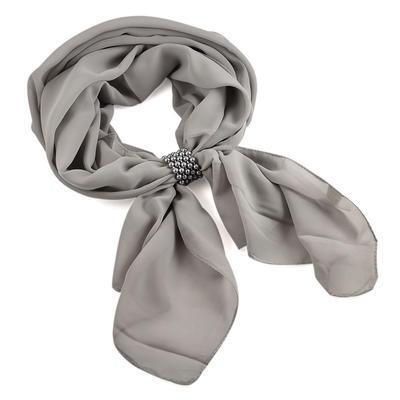Jewelry scarf Melody - grey - 1