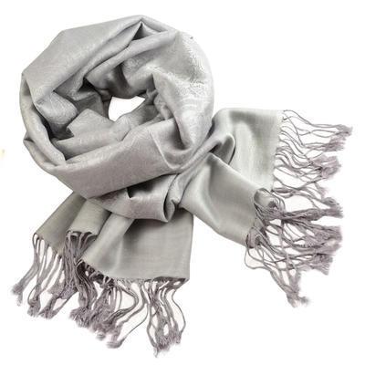 Classic cashmere scarf - light grey