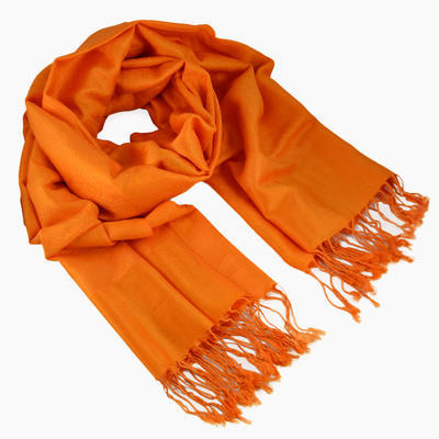 Classic cashmere scarf - orange