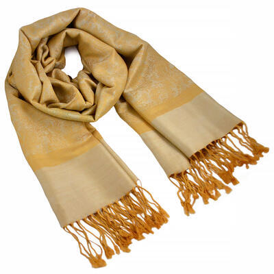 Classic cashmere scarf - yellow
