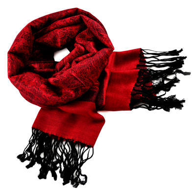 Classic cashmere scarf - red - 1