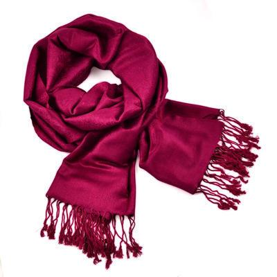 Classic cashmere scarf - crimson