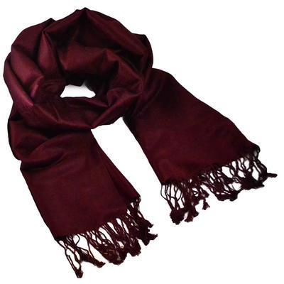 Classic warm scarf - dark wine red