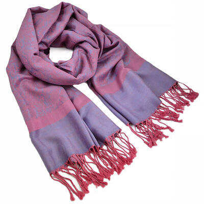 Classic cashmere scarf - pink and violet