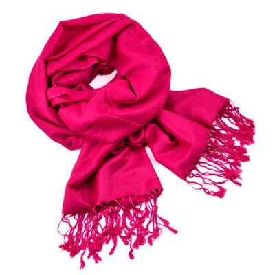 Classic cashmere scarf - fuchsia pink