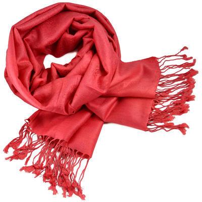 Classic cashmere scarf - coral