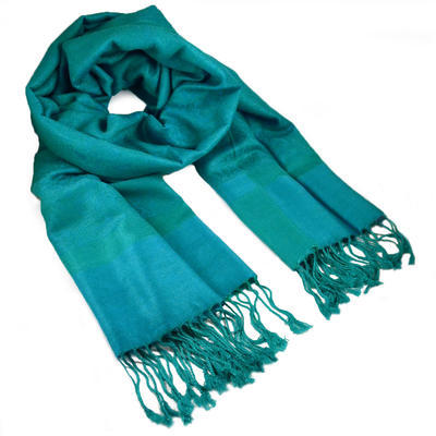 Classic cashmere scarf - turquoise