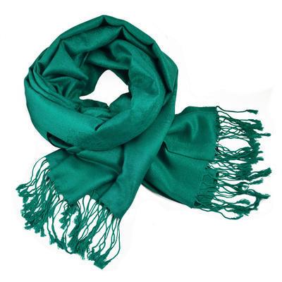 Classic cashmere scarf - emerald green
