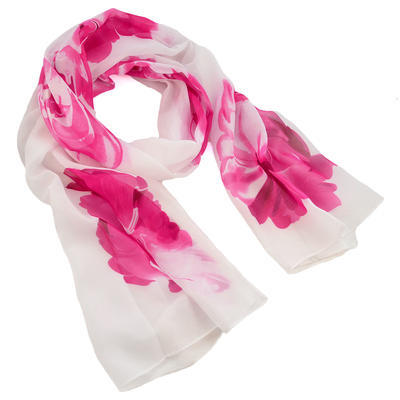 Classic women's scarf - violet - 1
