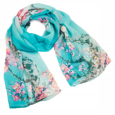 Classic women's scarf - turquoise