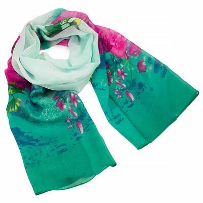 Classic women's scarf - dark green