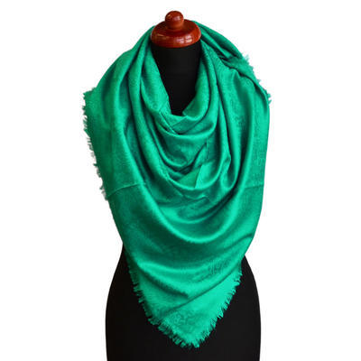 Blanket square scarf - green - 1