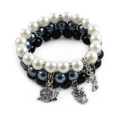 Bracelet set - black&white contrast - 1