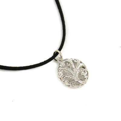 Necklace - silver grey